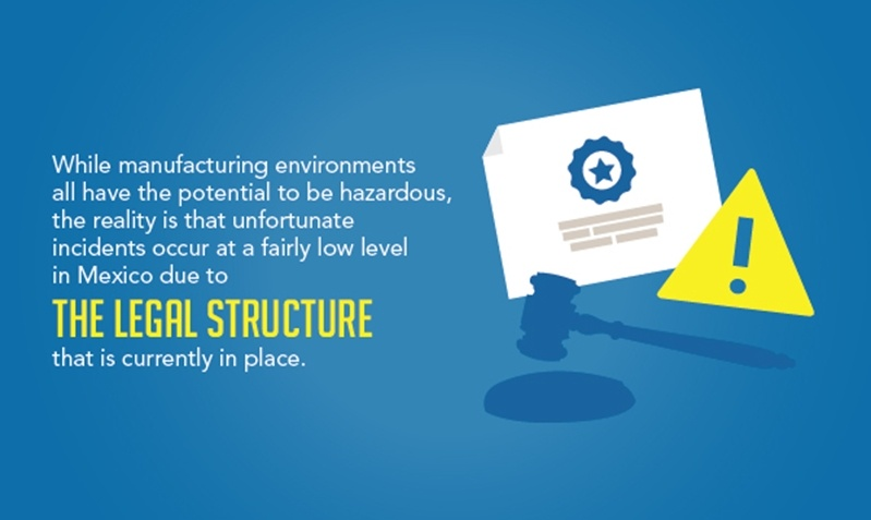 Mexico has a robust industrial health and safety regulatory environment that minimizes safety risks in the workplace.