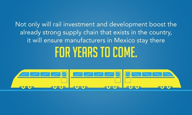 Rail investments adds to the offshoring advantages of manufacturing in Mexico and secures Mexico's position as a major manufacturer for years to come.